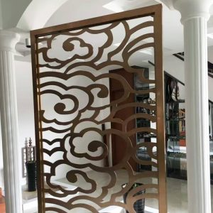 Laser cutting stainless steel Scren Room Dividers